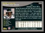 2001 Topps #258  Duce Staley  Back Thumbnail