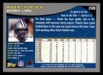 2001 Topps #296  Robert Porcher  Back Thumbnail