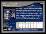 2001 Topps #342  Jesse Palmer  Back Thumbnail