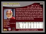 2001 Topps #348  Sage Rosenfels  Back Thumbnail