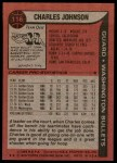 1979 Topps #116  Charles Johnson  Back Thumbnail