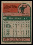 1975 Topps Mini #513  Dick Pole  Back Thumbnail