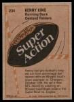 1981 Topps #234   -  Kenny King Super Action Back Thumbnail