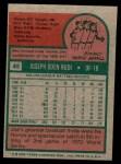 1975 Topps Mini #45  Joe Rudi  Back Thumbnail