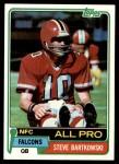 1981 Topps #390  Steve Bartkowski  Front Thumbnail