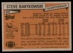 1981 Topps #390  Steve Bartkowski  Back Thumbnail