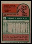 1975 Topps Mini #33  Dusty Baker  Back Thumbnail