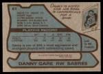 1979 Topps #61  Danny Gare  Back Thumbnail