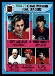 1979 Topps #7   -  Guy LaFleur / Mike Bossy / Brian Trottier / Jean Pronovost / Ted Bulley Game Winning Goal Leaders Front Thumbnail