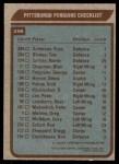 1979 Topps #256   Penguins Team Checklist Back Thumbnail
