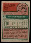 1975 Topps Mini #613  Bill Parsons  Back Thumbnail