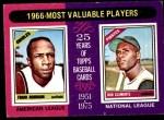 1975 Topps Mini #204   -  Frank Robinson / Roberto Clemente 1966 MVPs Front Thumbnail