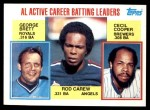 1984 Topps #710   -  Rod Carew / George Brett / Cecil Cooper AL Active Batting Leaders Front Thumbnail