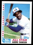 1982 Topps #341   -  Andre Dawson All-Star Front Thumbnail