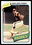 1980 Topps #280  Gaylord Perry  Front Thumbnail