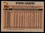 1983 Topps #610  Steve Garvey  Back Thumbnail