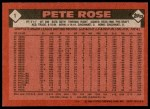 1986 Topps #1  Pete Rose  Back Thumbnail