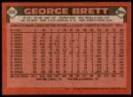 1986 Topps #300  George Brett  Back Thumbnail