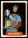 1982 Fleer #631  Bruce Sutter  Front Thumbnail