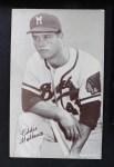 1962 Exhibits Stat Back  Eddie Mathews  Front Thumbnail