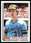 1982 Topps #466  Randy Lerch  Front Thumbnail
