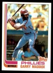 1982 Topps #20  Garry Maddox  Front Thumbnail