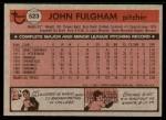 1981 Topps #523  John Fulgham  Back Thumbnail
