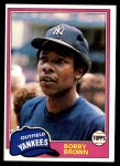 1981 Topps #418  Bobby Brown  Front Thumbnail