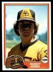 1981 Topps #458  Randy Jones  Front Thumbnail