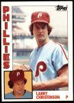 1984 Topps #252  Larry Christenson  Front Thumbnail