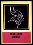 1967 Philadelphia #108   Minnesota Vikings Logo Front Thumbnail