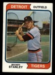 1974 Topps #530  Mickey Stanley  Front Thumbnail