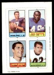 1969 Topps 4-in-1 Football Stamps  Richie Petitbon / John Robinson / Jack Snow / Mike Clark  Front Thumbnail