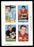1969 Topps 4-in-1 Football Stamps  Charlie King / Bob Cappadona / Ben Davidson / Fred Arbanas  Front Thumbnail