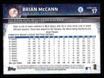 2015 Topps #17  Brian McCann  Back Thumbnail