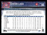 2015 Topps #95  Junior Lake  Back Thumbnail