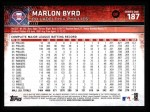 2015 Topps #187  Marlon Byrd  Back Thumbnail
