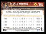 2015 Topps #296  Charlie Morton  Back Thumbnail