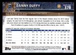 2015 Topps #378  Danny Duffy  Back Thumbnail