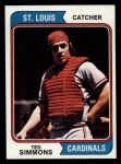 1974 Topps #260  Ted Simmons  Front Thumbnail