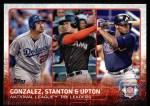 2015 Topps #349   -  Adrian Gonzalez / Giancarlo Stanton / Justin Upton NL RBI Leaders Front Thumbnail
