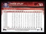 2015 Topps #163  Chase Utley  Back Thumbnail