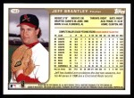 1999 Topps #162  Jeff Brantley  Back Thumbnail