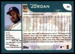 2001 Topps #16  Brian Jordan  Back Thumbnail