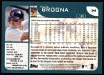2001 Topps #34  Rico Brogna  Back Thumbnail