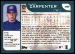 2001 Topps #148  Chris Carpenter  Back Thumbnail
