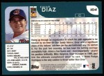 2001 Topps #164  Einar Diaz  Back Thumbnail