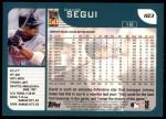 2001 Topps #183  David Segui  Back Thumbnail