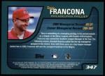 2001 Topps #347  Terry Francona  Back Thumbnail