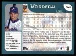 2001 Topps #549  Mike Mordecai  Back Thumbnail